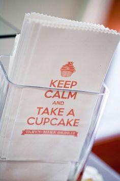 Keep Calm and Take a Cupcake - wedding favor idea