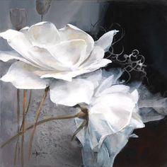 Pintura en lienzo con rosas versión 1
