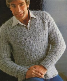 knit men's sweater patterns free - Αναζήτηση Google