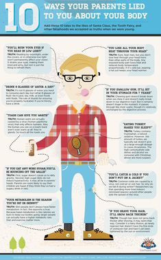 Mitos del cuerpo al descubierto #curiosidades #infografia #infographic