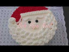 Bolo Papai Noel - Como decorar bolo de natal passo a passo. #natal - YouTube