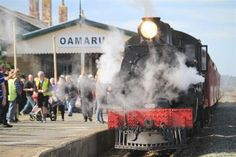 Historic steam locomotive Passchendaele pulls into Oamaru yesterday. Photo by Hamish MacLean. South Pacific, Pacific Ocean, Edna St Vincent Millay, Abandoned Train, State Of Arizona, Train Pictures, News Around The World, South Island, Steam Engine