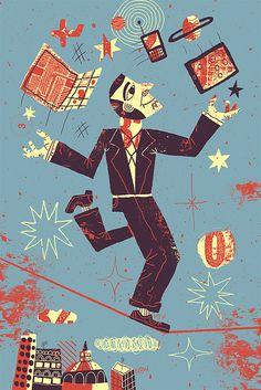 Juggler Illustration by Nate Williams