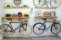 """Receive wonderful suggestions on """"bunk bed designs boys"""". They are actually offered for you on our website. Bike Wall Storage, Bike Storage Apartment, Indoor Bike Storage, Bike Shelf, Storage Shelves, Bicycle Cafe, Range Velo, Bike Storage Solutions, Bike Room"""
