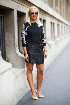 Street Style Paris Fashion Week - Paris Spring 2014 Street Style Photos - Elle