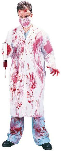 Horror Doktor Halloween Kostüm M/L, aus unserer Kategorie Halloween Herren Kostüme. Dieser Arzt hat nicht nur seine Lizenz, sondern auch seinen Verstand verloren. Seine kranken Experimente sind wahrhaft abscheulich und kennen keine Grenzen. Genauso wenig wie seine Blutlust ... Ein schauriges Kostüm für Karneval, Halloween und Mottopartys.