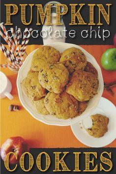 Pumpkin chocolate chip cookies recipe!! Serious YUM!
