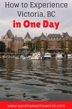 If you only have one day in Victoria British Columbia like we did, you�ll want to make the most of your time there. Check out our guide to Victoria in 24 hours so you can see the sights and find a nice place to stay for the night in Victoria. Don�t forget to save this to your travel board.