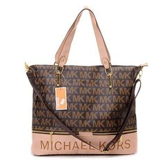 0f2734298b0b Michael Kors Classic Monogrammed Removable Strap Tote Brown Michael Kors  Bags Outlet, Michael Kors Clutch