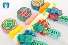 Circus Party Favor Candy Kabobs by Sweets Indeed
