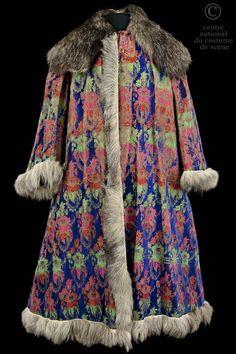 Leon Bakst, costume for a boyard, velvet, fur, from Boris Godounov's opera,  Alexandre Sanine, 1913