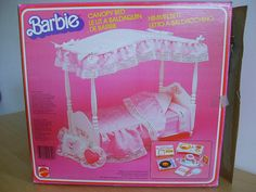 Barbie canopy bed--I remember the commercials for this and believed it to be the height of beautiful daintiness in Barbie products.