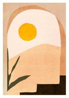 Giclee art print on 310 grams Hahnemuhle matte fine art paper Desert Art, Desert Sunset, Sunset Art, Desert Design, Kunst Inspo, Art Inspo, Art And Illustration, Food Illustrations, Art Watercolor