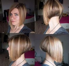 32 Layered Bob Hairstyles : Add These Hot Layers to Your Haircut Now - Style My Hairs Angled Bob Hairstyles, Layered Haircuts, Short Bob Hairstyles, Summer Hairstyles, Cute Hairstyles, Easy Hairstyle, Bob Haircuts, Short Textured Bob, Angled Bobs