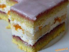 Mandarínkovo banánový zákusok Czech Recipes, Dessert Bars, Sweet Tooth, Cheesecake, Deserts, Food And Drink, Favorite Recipes, Sweets, Fruit