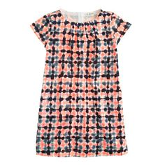 Girls' tie-dye check dress - everyday - Girl's dresses - J.Crew