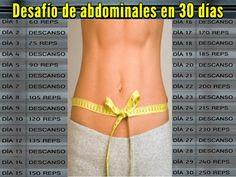 Desafío de abdominales en 30 días ¡Inténtalo!