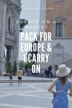 Learn to pack less than 10 pieces for a summer in Europe! Packing For Europe, Europe On A Budget, Summer Europe, Packing Light, Panama Hat, Travel, Viajes, Pack A Suitcase, Destinations