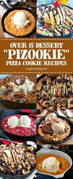 "The perfect dessert for two, try one of these delicious ""Pizookie"" Pizza Cookie recipes!"