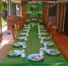 Soccer Birthday Party Theme Ideas - DIY Personalized Scoreboard featuring your son or daughter's name to go above the snack table