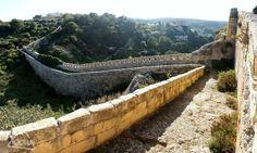 The Great Wall of Malta! The Victoria Lines cut through the lush Maltese countryside near Bingemma. Malta Monday 17th March 2014