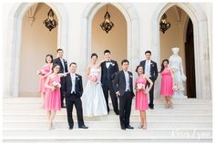 Pink Wedding Party Colors / Kasey Lynn Photography