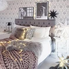 Here are some doable living room decor and interior design tips that will make your home cozy and comfortable for family and friends. Dream Rooms, Dream Bedroom, Home Bedroom, Teen Bedroom, Teen Rooms, Winter Bedroom, Bedroom 2018, Girl Bedrooms, Home And Deco