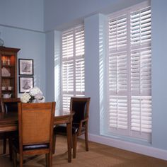 """Inspire2"""" Window Treatment Ideas: Inspire 2″ blinds window treatment ideas simulate the look and warmth of a traditional hardwood blind at an exceptional value in traditional and privacy interlock slat styles. Inspire Faux Wood Blinds are designed for high humidity areas such as bathrooms and kitchens and they are available in smooth, wood grain and sandblasted finishes. Inspire blinds meet the NFPA 701 specifications for fire and flammability."""