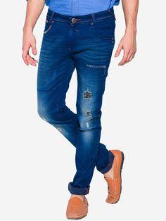 Mufti Blue Super Slim Fit Denim Jeans For Men