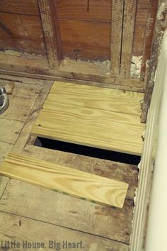 Little House Big Heart How To Repair Subfloor Damage 3