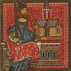 King Offa of Mercia from the Benefactors Book of St. Alban's Abbey.
