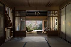 """Machiya house in Gosho-nishi"" by Kazuya Morita Architecture Studio Japanese Home Design, Japanese Style House, Traditional Japanese House, Japanese Buildings, Japanese Architecture, Modern Architecture, Japan Room, Modern Home Offices, Tatami Room"