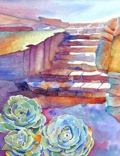Jeanne Hall - watercolor.