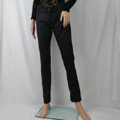 """Black metallic skinny jeans New without tags black New York and company skinny jeans sits lower than waist size 4. Does not have any stains rips. 30"""" inseam New York & Company Pants Skinny"""