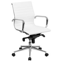 Shop for Offex Mid-Back White Ribbed Upholstered Leather Conference Chair. Get free shipping at Overstock.com - Your Online Furniture Outlet Store! Get 5% in rewards with Club O!