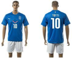 2015-2016 Italy team TOTTI #10 blue soccer jerseys home