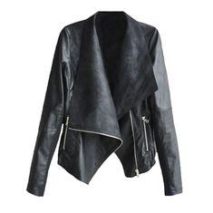 2015 новое поступление осень женщины кожаные куртки тонкий кожаный куртка мотоцикла включите Dow длинным рукавом молнии куртки зимние пальто XXL купить в магазине Five Star Outlet на AliExpress