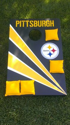 Pittsburgh Steelers Cornhole Boards Set. Completed 5/24/14.