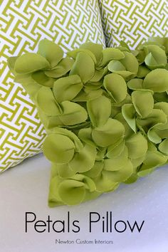 Petals Pillow from NewtonCustomInteriors.com Learn how to make this fun pillow with this step-by-step sewing tutorial.