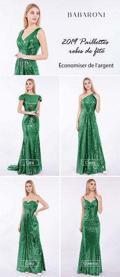 ccc9224f38a Cette robe de demoiselle d honneur avec une épaule et un motif en paillettes  peut