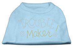 Trouble Maker Rhinestone Shirts Baby Blue L (14)