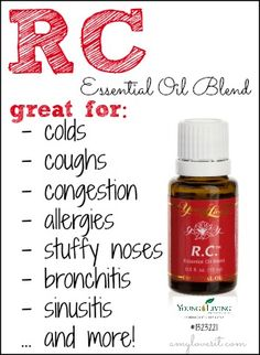 RC is my oil of choice for combatting respiratory illnesses, coughs, stuffy noses, and colds. | AmyLovesIt.com #oilyfamilies #essentialoils