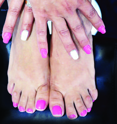 Mani Pedi, Manicure, Pedicures, Treat Yourself, Fun Nails, Hot Pink, Treats, How To Make, Colours