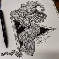 Mago blackwork #mago #blackwork #dotwork #pontilhismo #desenho #draw Dot Work, Pretty People, Blackwork, Ink, Random, Tattoos, Drawings, Sketches, Crafts