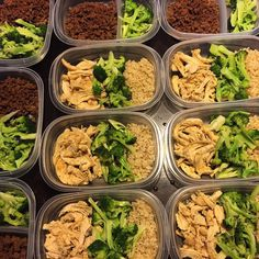 #SundayFunday The Hardest Part Of  Battle #Mealprep Shredded Chicken TittyGround BeefBrown Rice  Broccoli my fav greens  #Cleaneating #GetLean #Lowcarb #Preplife #Eattogrow #Bodybuilding #Diet #Nutrition by knung_2fit