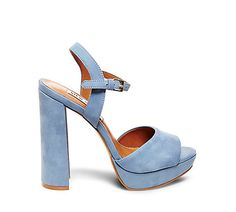 Imagine walking into summer in these bad boys. Currently crushing on these powder blue platforms from Steve Madden. | Galleria Dallas | Steve Madden | Platforms | Heels | Women's Shoes | Summer Shoes | Women's Fashion