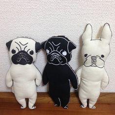 パグちゃん ヌイグルミ (ブラック)