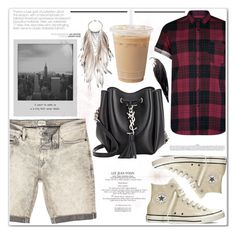 """""""Saturday Casual"""" by es-vee ❤ liked on Polyvore featuring River Island, Converse, Yves Saint Laurent, Meggie and Anni Jürgenson"""