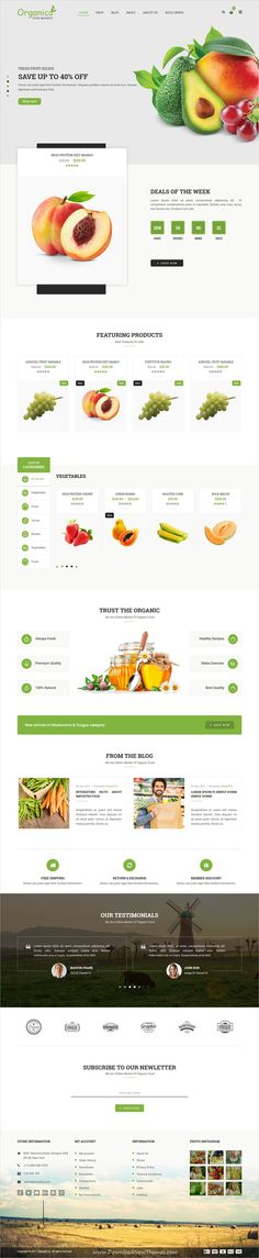 Organico is clean and modern design 4in1 responsive #WooCommerce #WordPress theme for fresh #fruits and vegitables shop #eCommerce website download now..