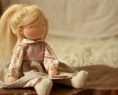 :: Crafty :: Doll :: Clothes :: Olinka, 17 inch Puce Puppula doll | Flickr - Photo Sharing!